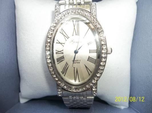 GENOA AUSTRIAN CRYSTAL, WATCH           $25.00: GENOA AUSTRIAN CRYSTAL MIYOTA JAPANESE MOVEMENT WATCH IN ION PLATED STAINLESS STEEL....