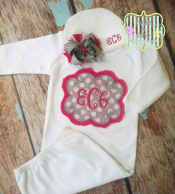 Hey, I found this really awesome Etsy listing at https://www.etsy.com/listing/165704046/personalized-shabby-monogram-newborn