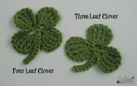 Free Crochet Patterns Four Leaf Clover : three and four leaf clover - Cre8tion Crochet CROCHET ...