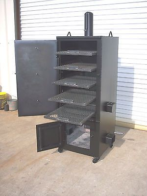 new custom vertical patio bbq pit smoker and charcoal. Black Bedroom Furniture Sets. Home Design Ideas