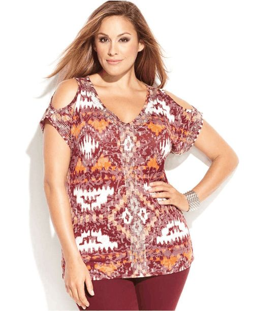 INC International Concepts Plus Size Studded Printed Cold-Shoulder TopHeart it on Wantering and get an alert when it goes on sale.