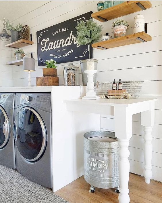 Pure Rustic Laundry Room