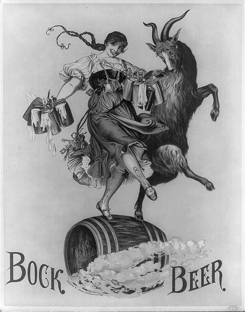 1883  Feb 17   Barmaid and goat skipping on a Barrel by carlylehold, via Flickr