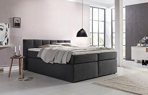 Boxspringbett Valina 180x200cm Anthrazit H2 H3 Inkl Lieferung Ins Schlafzimmer Visco Topper Taschenfederkern Matratze Ideal Home Decor Home House Interior