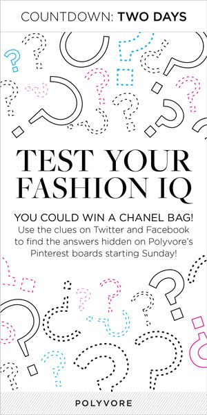 Only two more days until the great fashion scavenger hunt begins! Sunday at 11 am PDT, you can start looking for clues and enter to win a Chanel bag and a bunch of other amazing designer prizes!