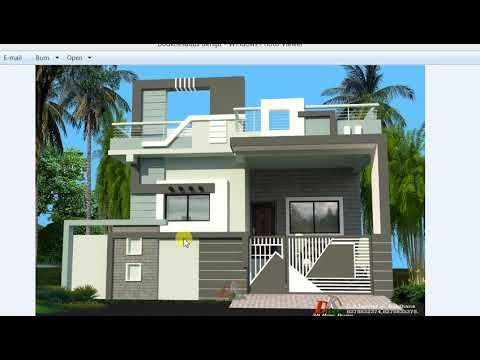 29x46 Ft Best Single Story House Design Youtube Small House Front Design Village House Design House Front Design