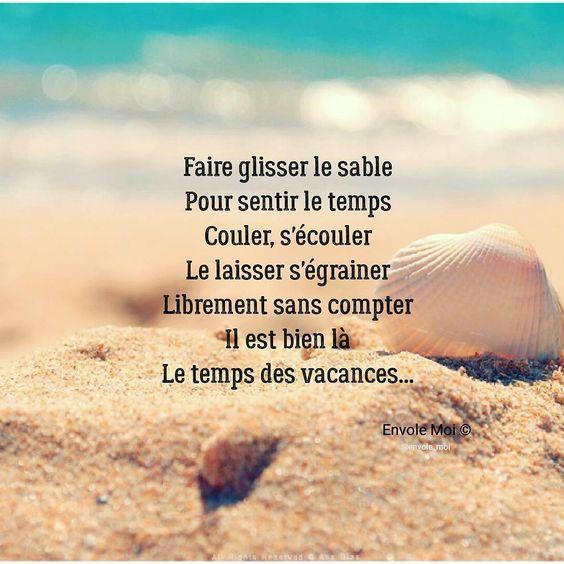 """(@envole_moi) sur Instagram: """"L'été, le soleil, la plage, le sable, les vacances sont bien là ️️ #citation #quote…"""""""