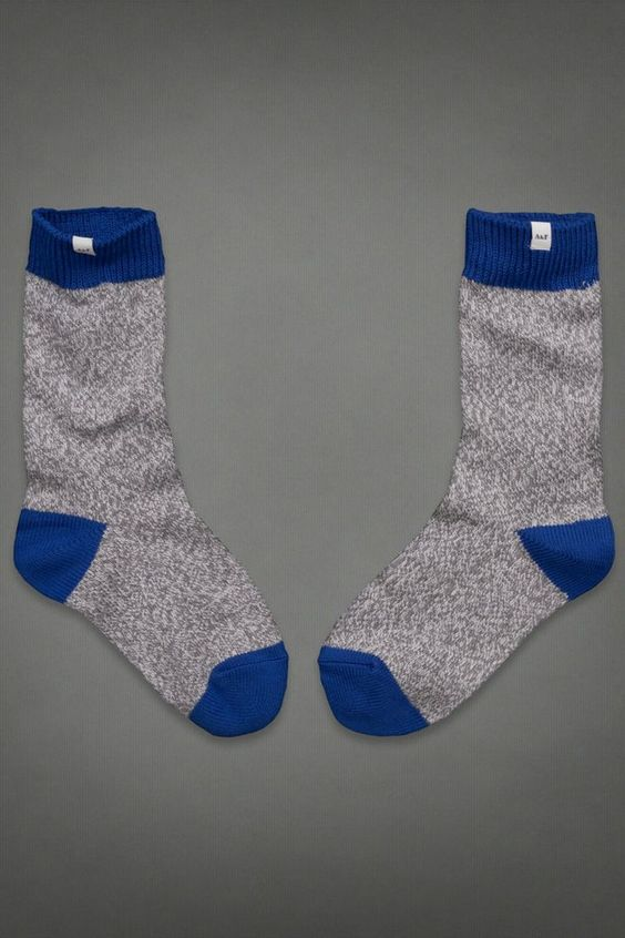 Keep your feet warm with these cozy A&F socks.