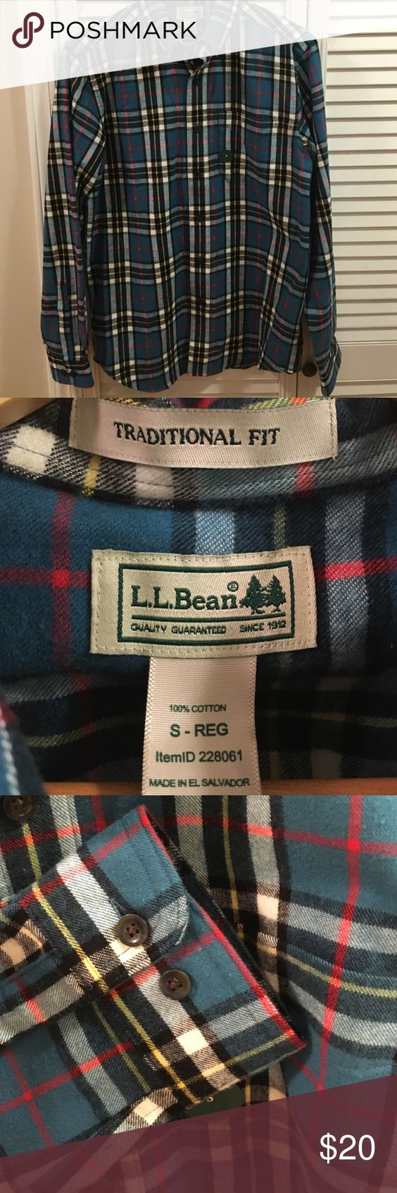 LL Bean Men's New without tags flannel LL Bean Men's New without tags Flannel. Excellent condition. never worn or washed. From last Christmas - never worn. Currently retailing for 45 on website. L.L. Bean Shirts Casual Button Down Shirts