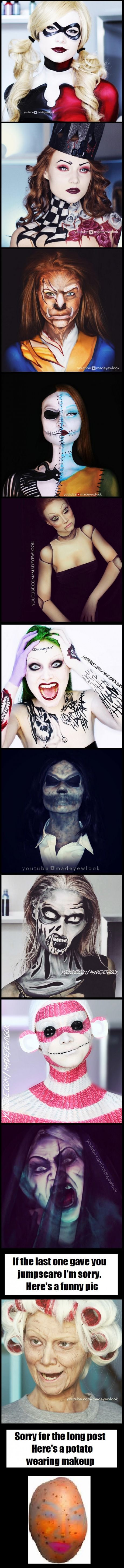 Same girl - with different makeup: