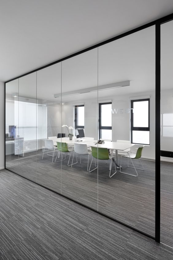 modern office interior glass partitions - Google Search: