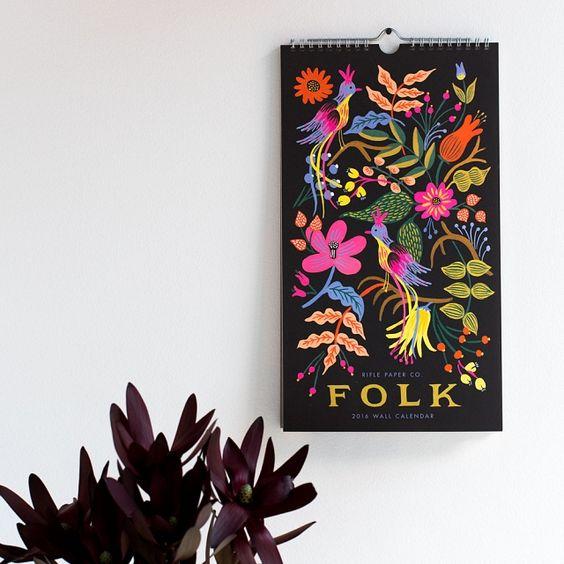 2016 Folk Calendar | k colette