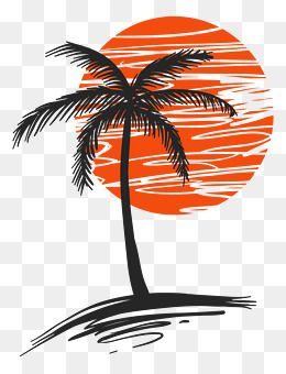 Illustration Of Palm Trees Png Free Download Vector Material Palm Hand Painted Material Png Transparent Clipart Image And Psd File For Free Download Palm Tree Png Tree Drawing Sunset Canvas Painting