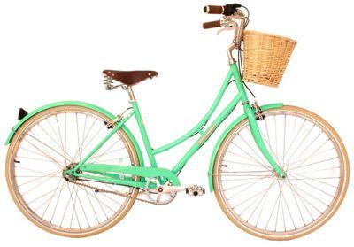 a cute mint green Papillionaire cruiser bike.