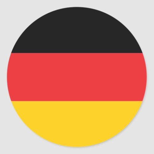 German Flag Classic Round Sticker Zazzle Com German Flag Germany Flag Flag