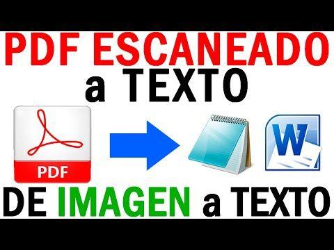 Convertir Pdf Escaneado A Texto Word De Imagen A Texto Con Pdfelement Pro Youtube Libros De Informatica Aprender Informatica Informatica Y Computacion