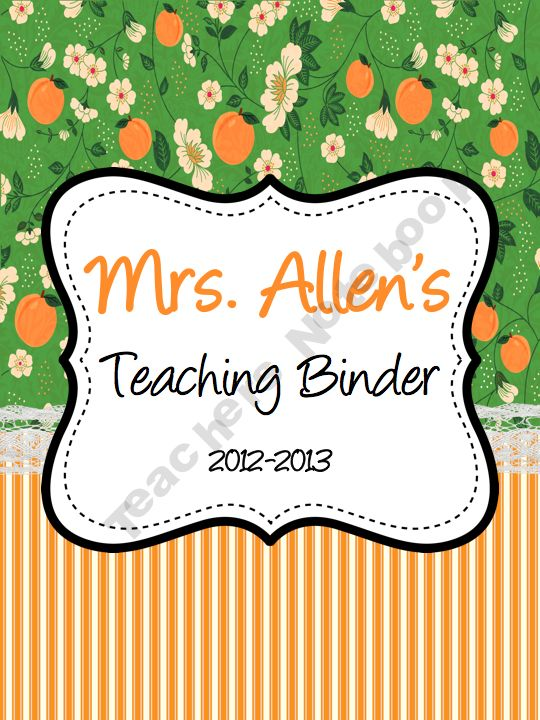Cute Customizable Teacher's Binder Covers - includes 11 pages that can be used as binder covers or section dividers plus a set of three binder spines. The Power Point format will allow you to customize each page to your needs - changing titles, colors, font, etc... http://www.teachersnotebook.com/product/CorrinaAllen/customizable-teachers-binder-covers#, $1.50