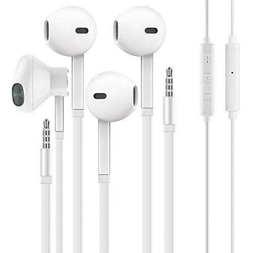 2 Pack Weizy Aux Earbuds Earphones Vize 3 5mm Wired Headphones Noise Isolating Earphones Volume Control Wired Headphones Earbuds Headphones With Microphone