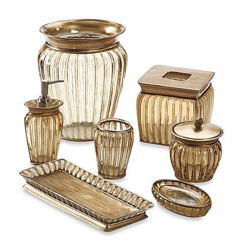 Croscill antique ribbed bath ensemble master bathroom pinterest bath accessories for Master bathroom accessories set