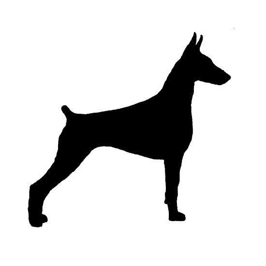 Doberman Pinscher Silhouette Dog Line Doberman Doberman Pinscher