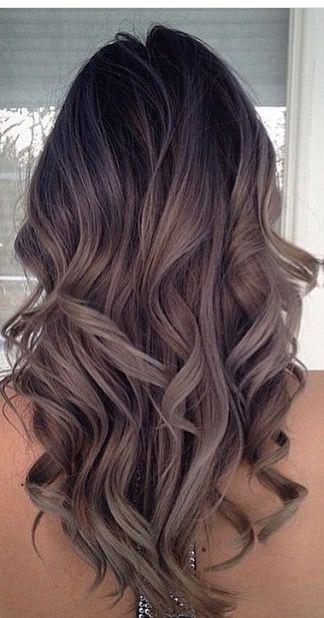 Ashy brown curls: