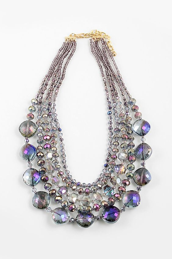 Crystal Capri Necklace in Midnight Vitrail on Emma Stine Limited