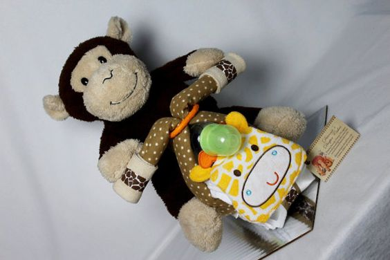 Motorcycle Baby Diaper Cake Zoo Animals Shower Centerpiece Gift by Diannasdiapercakes
