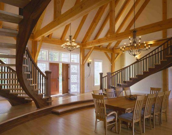 Luxury timber frame maine custom timber frame home builder houses