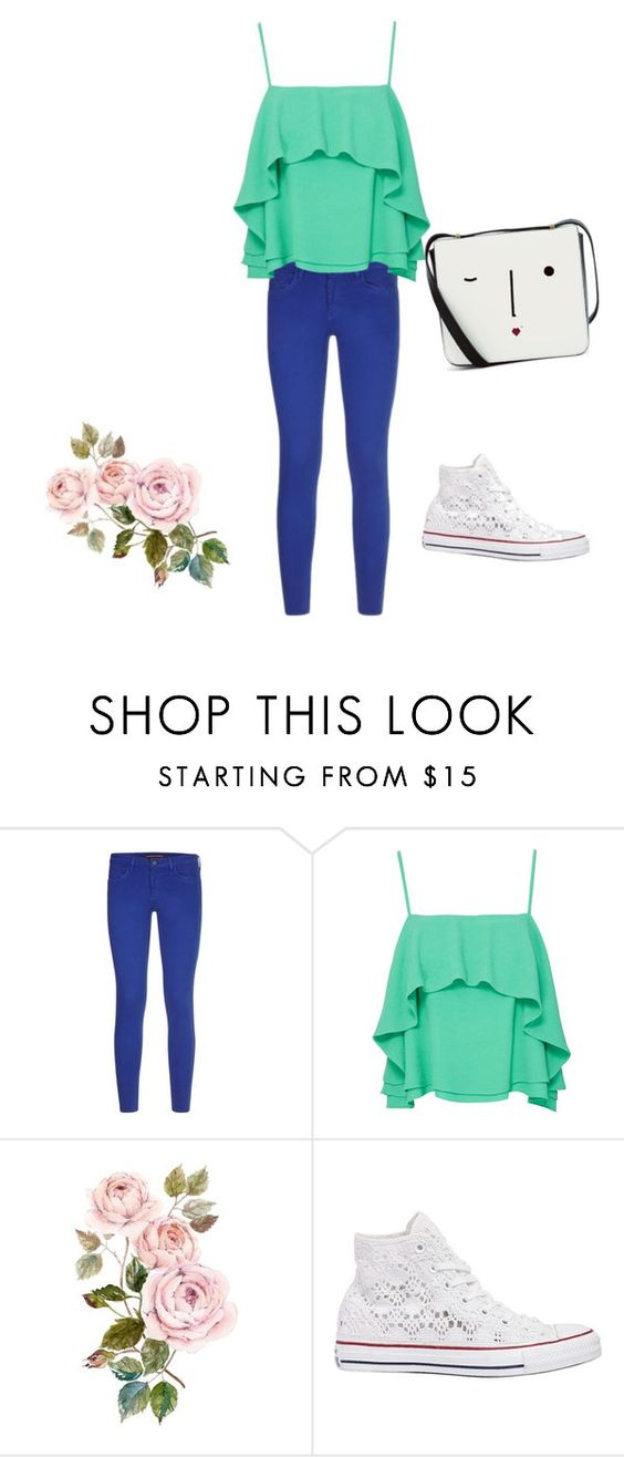 """Untitled #9"" by ladygrayd ❤ liked on Polyvore featuring Comptoir Des Cotonniers, Apiece Apart, Converse and Lulu Guinness"