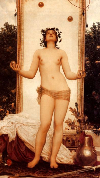 The Antique Juggling Girl - Oil on canvas - Lord Frederick Leighton (1830-1896)