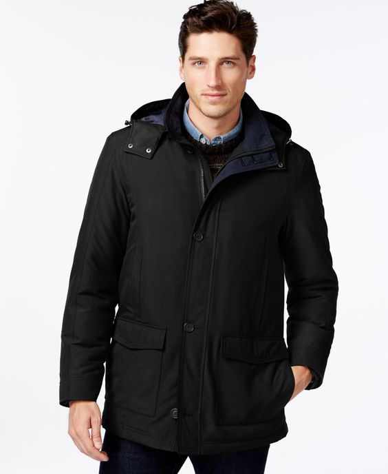 Perry Ellis Big and Tall Hooded Parka