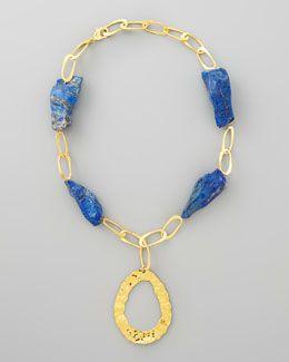 Devon Leigh Lapis Rock Necklace