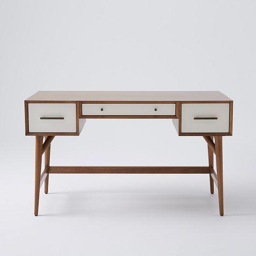 Mid Century Desk Acorn White West Elm Pinterest Grey Offices A