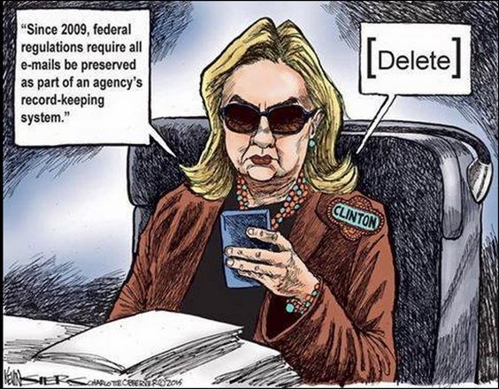 Image result for hillary clinton email scandal cartoon