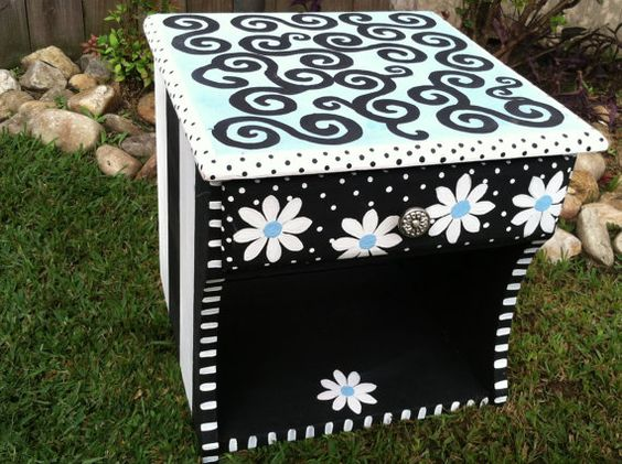 Hey, I found this really awesome Etsy listing at http://www.etsy.com/listing/116528612/whimsical-funky-vintage-hand-painted