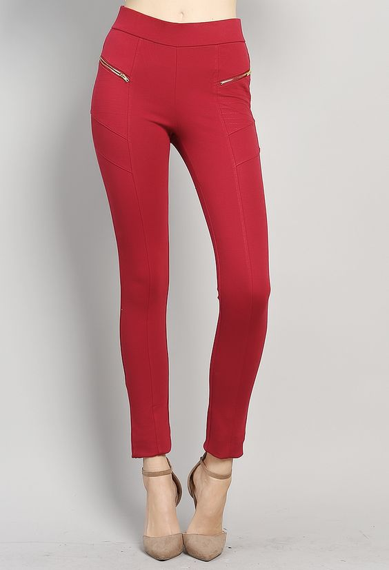 zipper detail dressy jeggings