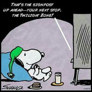Image result for snoopy twilight zone