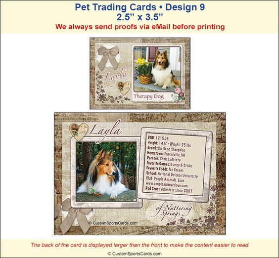 Trading Cards Pets Sample  Trading Cards Pets Sample  Check Out