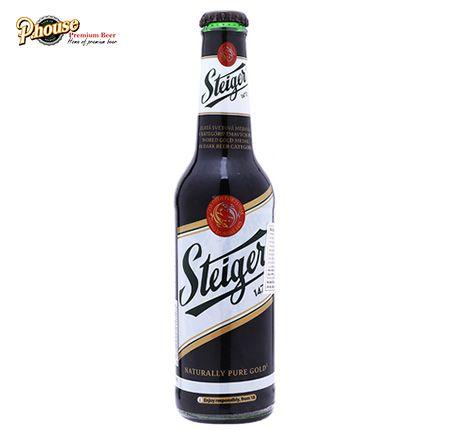 Bia Steiger đen chai 330ml