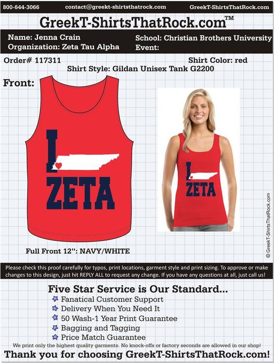 Zeta Tau Alpha Tank  http://www.greekt-shirtsthatrock.com/