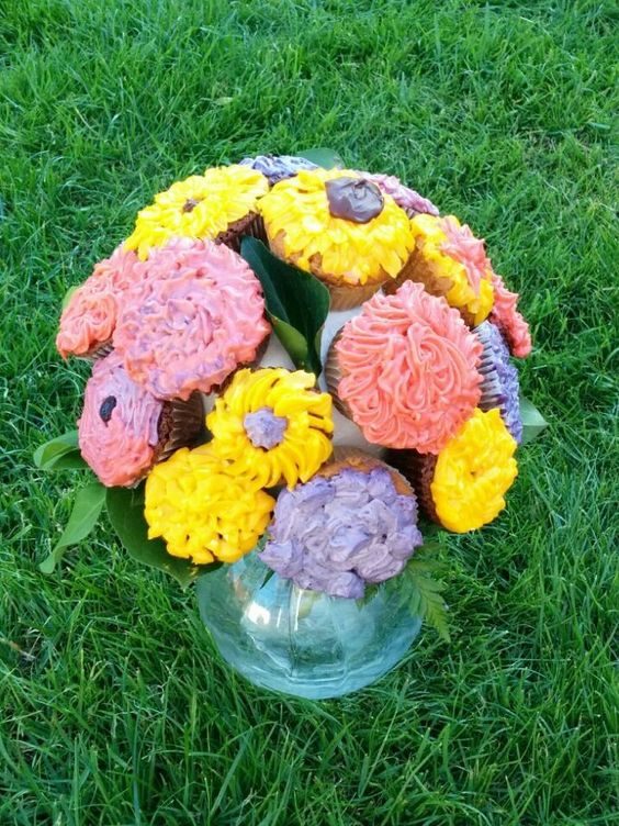 Cupcake Strauß zum Muttertag