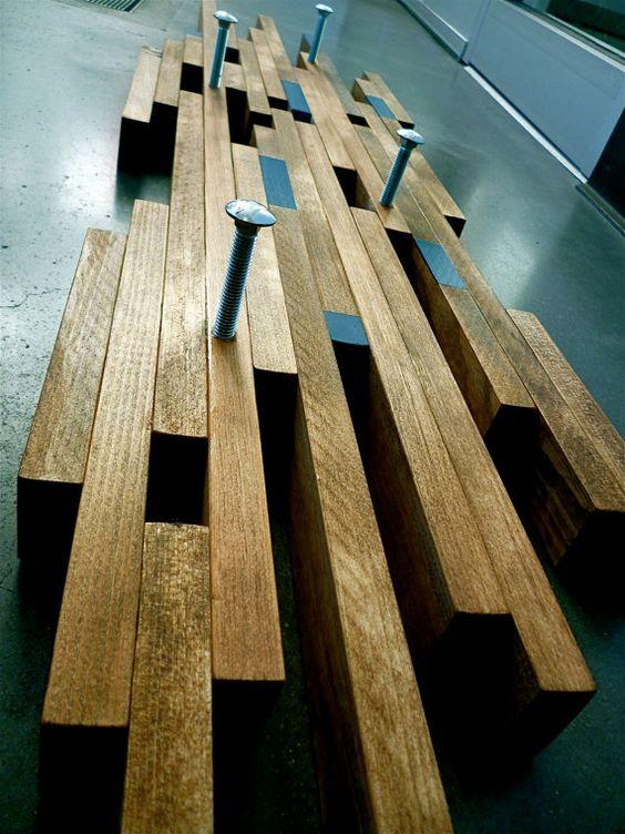 Colgar Industrial Contemporary Modern Wall Coat Rack Or