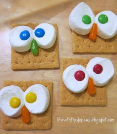 owl classrooom ideas | Owl snack and treat ideas for a party | Bargain Hoot