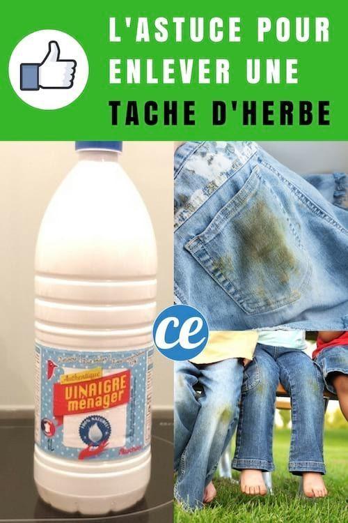 Comment Enlever Une Tache D Herbe Facilement Avec Du Vinaigre Blanc En 2020 Taches D Herbe Tache Vinaigre Blanc