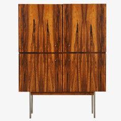 Vintage Rosewood Cabinet with Metal Legs - Furniture