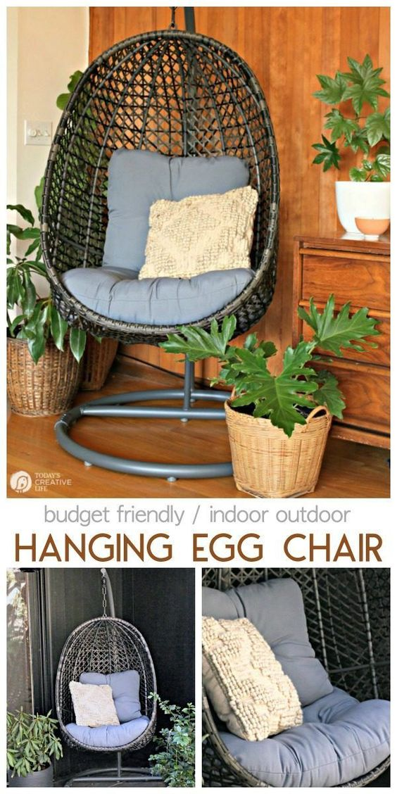 Inside Out Decorating Ideas For Spring Patio Decor Decor Hanging Egg Chair