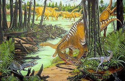 The #Teyuwasu was a vertebrate animal that walked the earth in the #Carnian age of the Triassic period of the #Mesozoic era. Very little is known about this creature as only bones of the hind legs are ascribed to it. Some scientists believe it could have been a primitive dinosaur. Others refrain from classifying it any further than a reptilian.