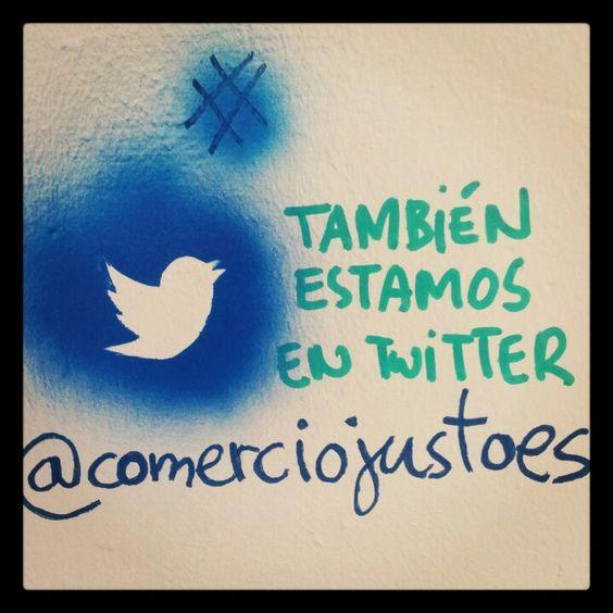 También estamos en twitter!! @comerciojustoes