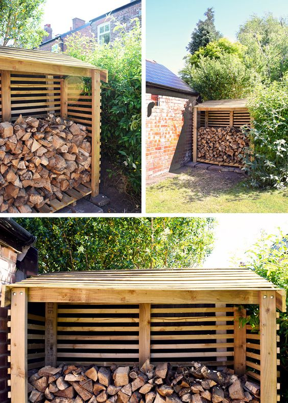 Easy step by step guide on how to build a log store. With plans, measurements, costs and pictures.