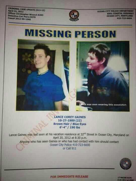Please Spread The Word MISSING PERSON In Ocean City For Over 3   Missing  Person Words  Missing Person Words